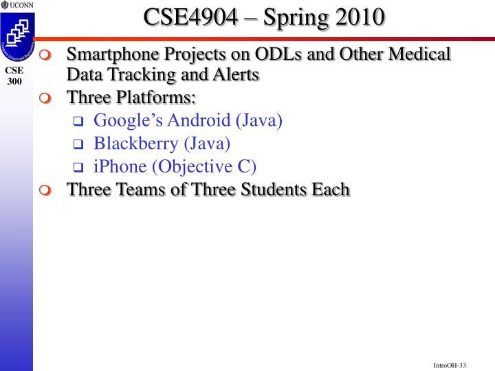 CSE4904 – Spring 2010