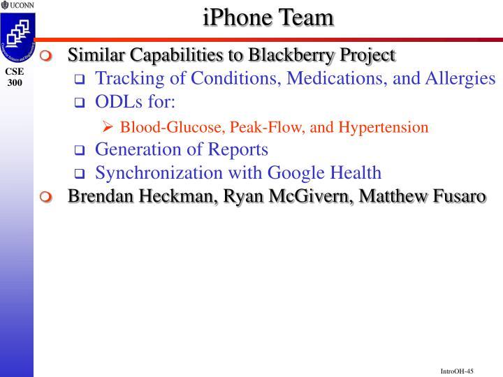iPhone Team