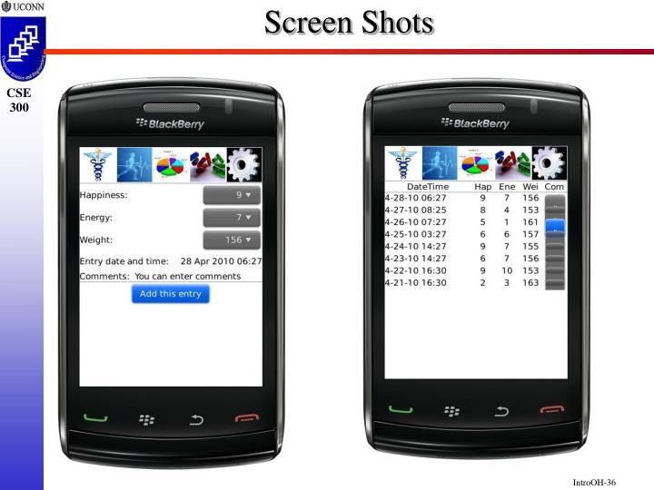 Screen Shots
