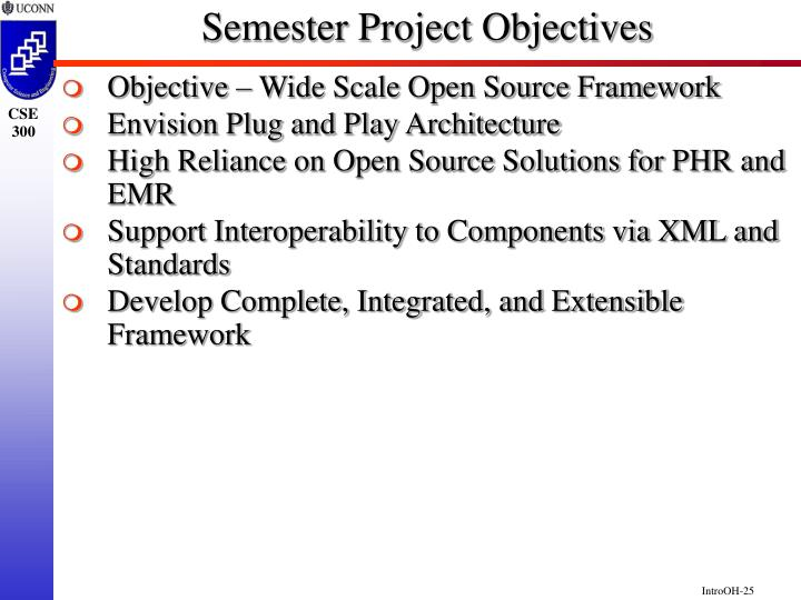 Semester Project Objectives