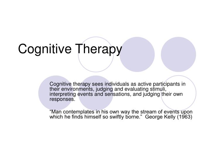 cognitive therapy n.