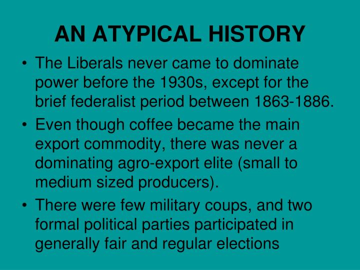 AN ATYPICAL HISTORY