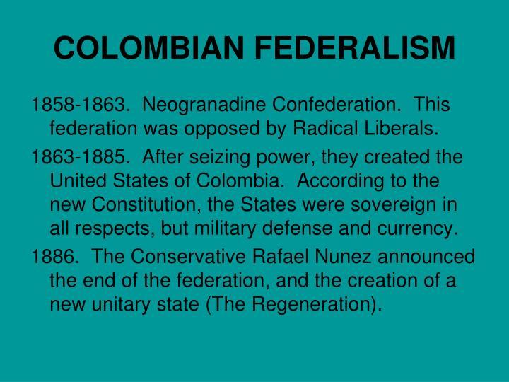 COLOMBIAN FEDERALISM