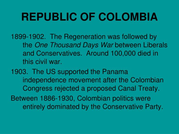 REPUBLIC OF COLOMBIA