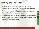 defining the print area