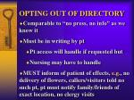 opting out of directory