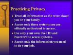 practicing privacy