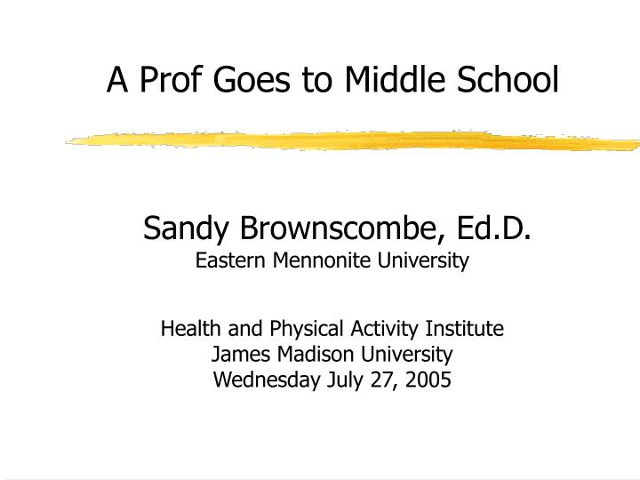a prof goes to middle school n.