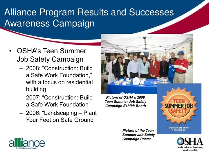 Alliance Program Results and Successes