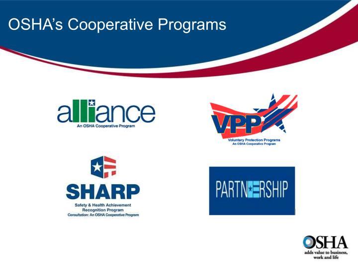 OSHA's Cooperative Programs