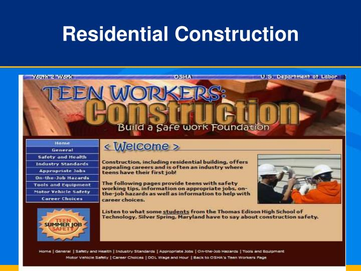 Residential Construction