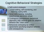 cognitive behavioral strategies