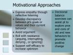 motivational approaches