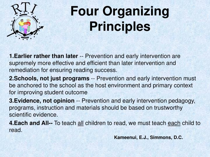 Four Organizing Principles