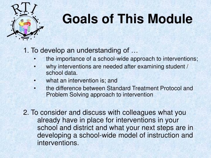 Goals of this module