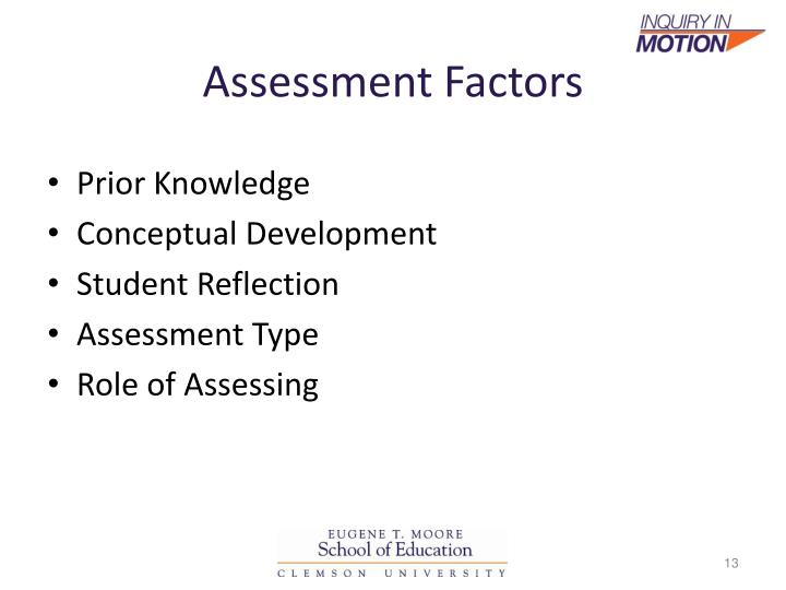 Assessment Factors