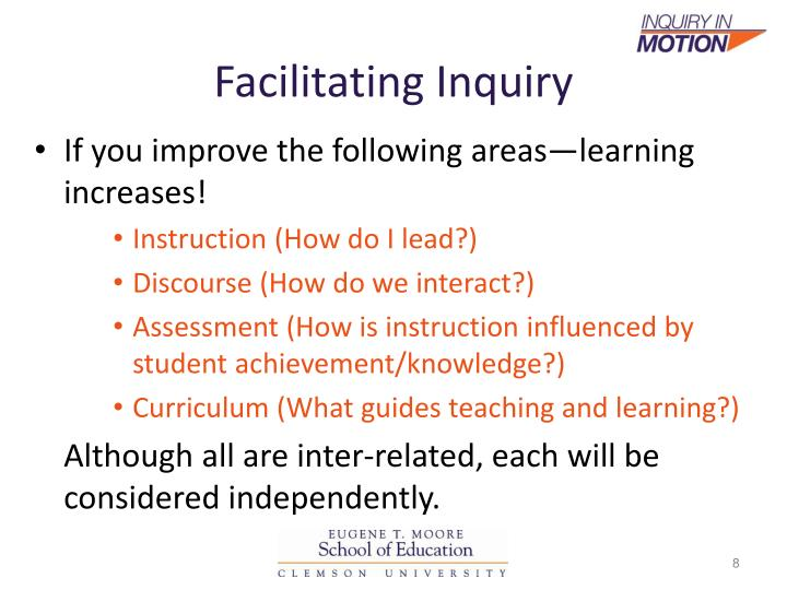 Facilitating Inquiry
