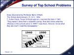 survey of top school problems1