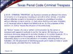 texas penal code criminal trespass