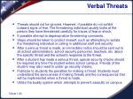 verbal threats