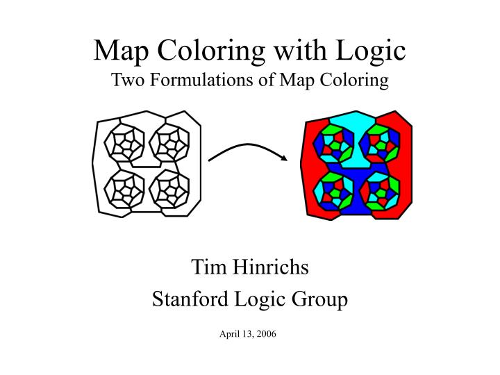 map coloring with logic two formulations of map coloring n.