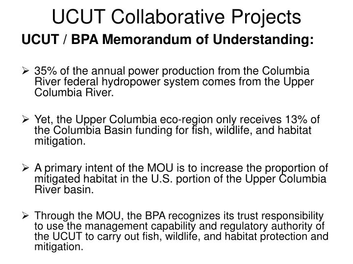 UCUT Collaborative Projects