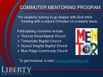 commuter mentoring program