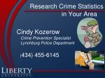 research crime statistics in your area