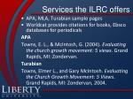 services the ilrc offers1