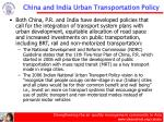 china and india urban transportation policy