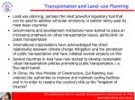 transportation and land use planning