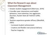 what the research says about classroom management1