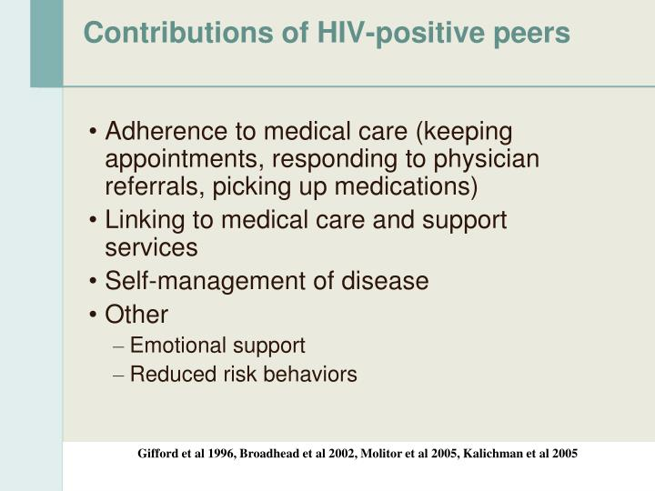 Contributions of HIV-positive peers