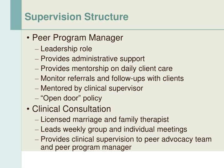 Supervision Structure