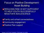 focus on positive development asset building