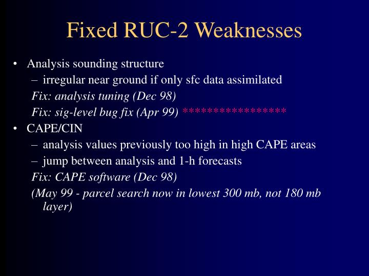 Fixed RUC-2 Weaknesses