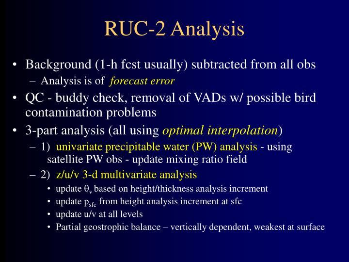 RUC-2 Analysis