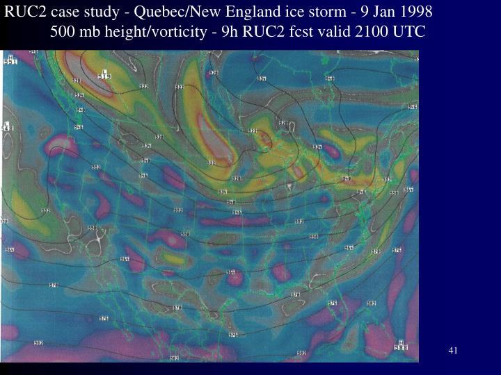 RUC2 case study - Quebec/New England ice storm - 9 Jan 1998