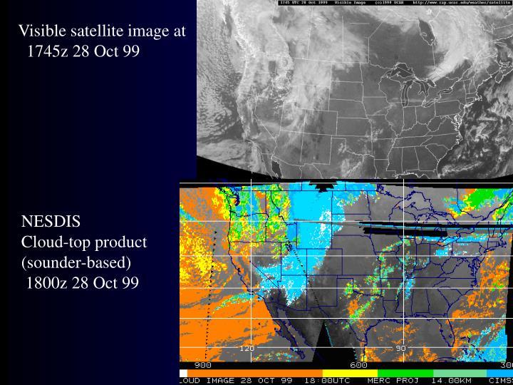Visible satellite image at