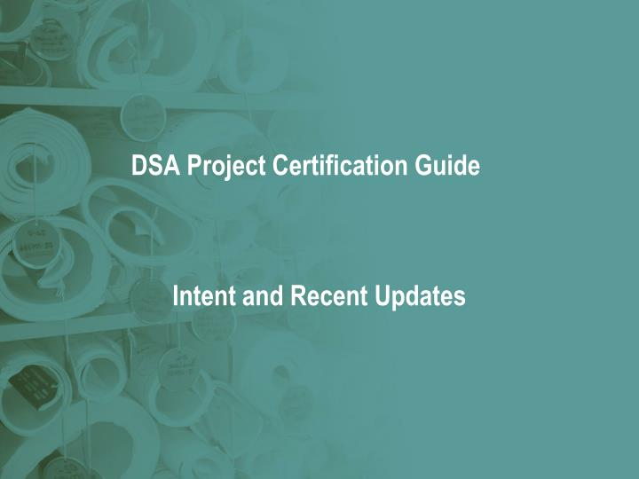 DSA Project Certification Guide
