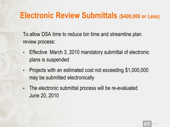 Electronic Review Submittals