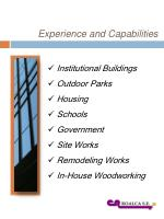 experience and capabilities