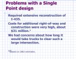problems with a single point design