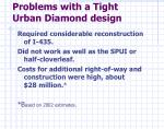 problems with a tight urban diamond design