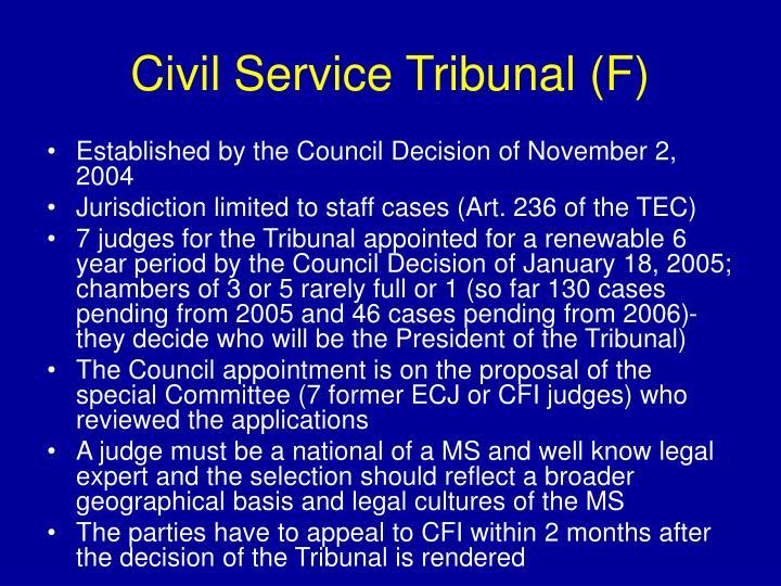 Civil Service Tribunal (F)