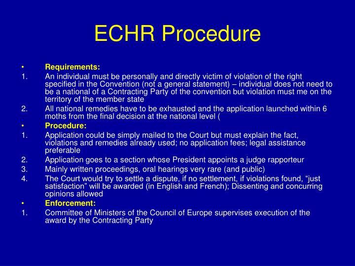 ECHR Procedure