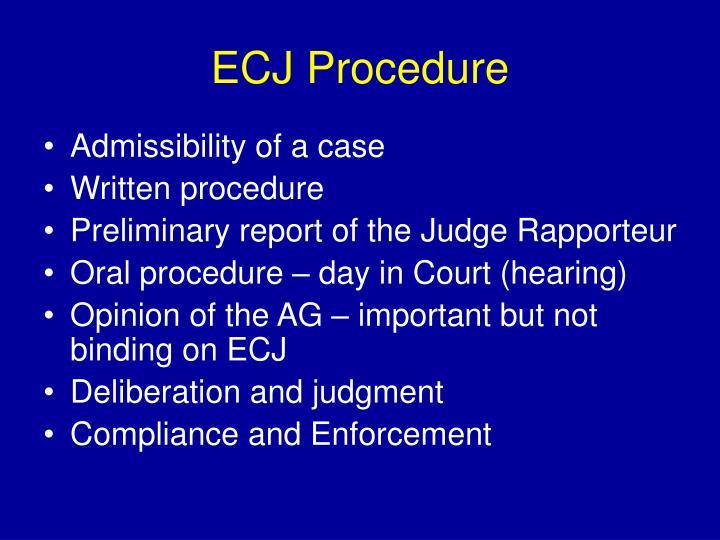 ECJ Procedure
