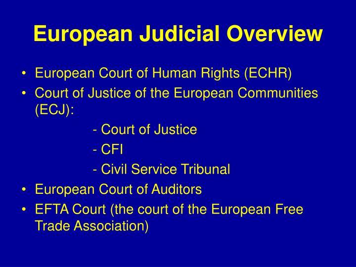 European judicial overview