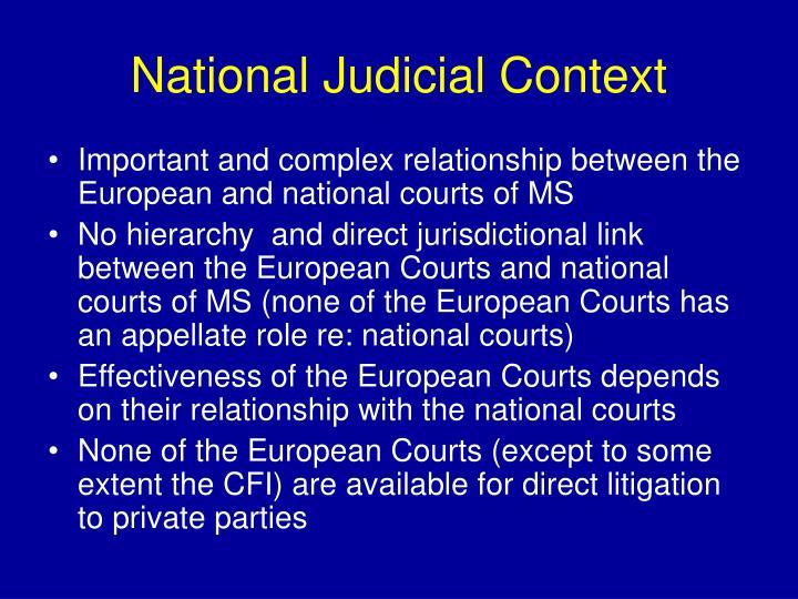 National Judicial Context