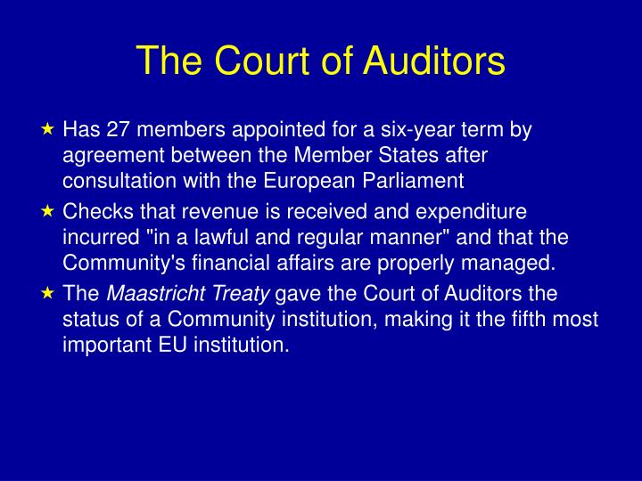 The Court of Auditors